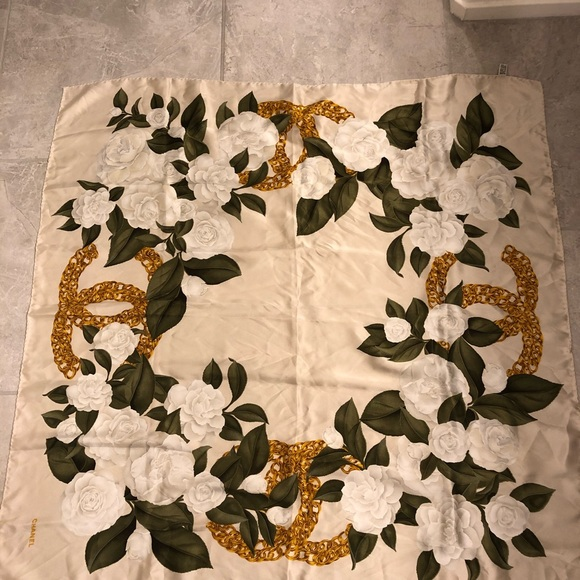 Authentic Chanel Silk Scarf/ Wrap